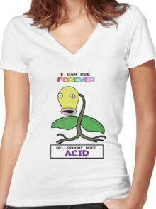 Bellsprout used Acid Women's Fitted V-Neck T-Shirt