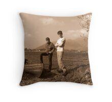 Derwentwater Mooring Throw Pillow