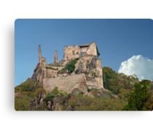 Kuenringer Castle Ruins Canvas Print