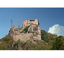 Kuenringer Castle Ruins Photographic Print