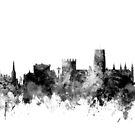 Durham England Skyline Cityscape by Michael Tompsett