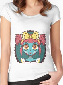 Zombie Girl Women's Fitted Scoop T-Shirt