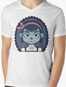 Vampire Girl Mens V-Neck T-Shirt