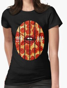 Chopped Pizza Womens Fitted T-Shirt