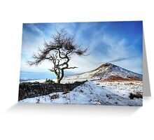 Winter at Roseberry Topping, North Yorkshire Greeting Card