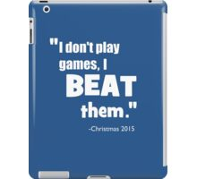 Games White iPad Case/Skin