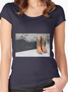 Boots and Guitars  Women's Fitted Scoop T-Shirt