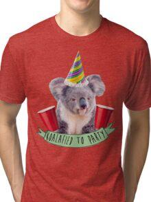 Koala-fied To Party Tri-blend T-Shirt