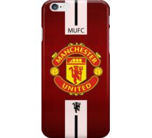 manchester united WHITE LINE iPhone Case/Skin
