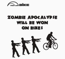 Cycling T Shirt - Zombie Apocalypse Will be Won on Bikes by ProAmBike