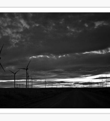 Black and White Wind Turbines Sticker