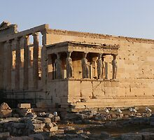 Temple of Erechteion with the Caryatids statues by Ren Provo