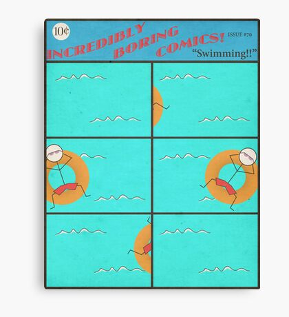 """Incredibly Boring Comics!! #4 - """"Swimming"""" Canvas Print"""