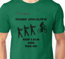 Cycling T Shirt - Zombie Apocalypse - Stay Calm and Ride On Unisex T-Shirt