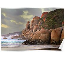 Whisky Bay Rocks - Wilsons Prom Poster