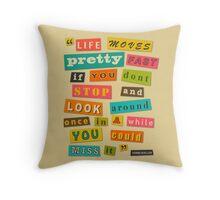 Ferris Bueller Quote - Beige Throw Pillow