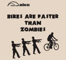 Cycling T Shirt - Bikes are Faster than Zombies by ProAmBike