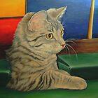 Kitten in a Side Pocket 3 by Pam Humbargar