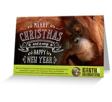 Earth 4 Orangutans Christmas Card - 2 Greeting Card