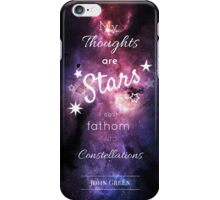 My Thoughts are Stars- The Fault in our Stars- John Green- Stars Purple iPhone Case/Skin