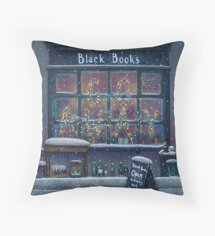 Black Books Christmas Throw Pillow