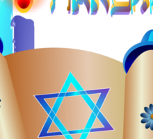 Happy Hanukkah-Torah Sticker
