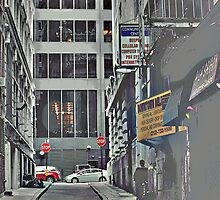Downtown NYC Alley by VDLOZIMAGES