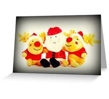 Merry Christmas- Santa & Reindeer  Greeting Card