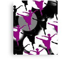 Ballerina Bokeh Light Spots Purple Canvas Print