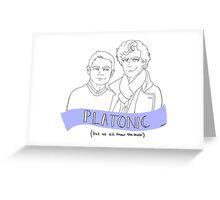 Just Platonic?  Greeting Card