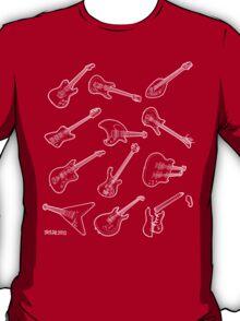12 Guitars - White T-Shirt