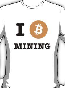 I Be Mining Bitcoin tshirt / I Heart Coin Bitcoin Mining T-Shirt