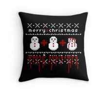 Jolly Bloody Snowman Throw Pillow