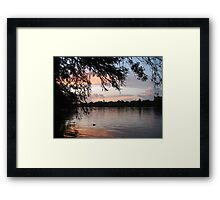 Sunset Over Lady Bird Lake, Austin Framed Print