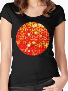 digital honeycomb Women's Fitted Scoop T-Shirt