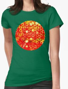 digital honeycomb Womens Fitted T-Shirt
