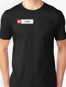 YouTube 1000 Subscribers Unisex T-Shirt