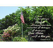 Great Nation Bless You Photographic Print