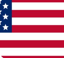 American Flag USA Silhouette Sticker
