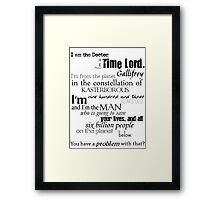 Doctor Ten's Speech Framed Print