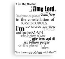 Doctor Ten's Speech Canvas Print