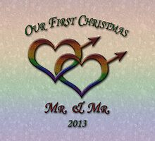 Our First Xmas - Mr & Mr by LiveLoudGraphic