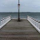 Pier at Eastern Beach by Leonie Morris
