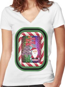 MERRY CHRISTMAS Women's Fitted V-Neck T-Shirt