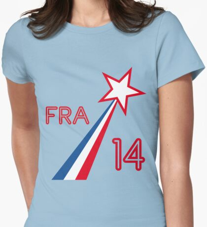 FRANCE STAR Womens Fitted T-Shirt