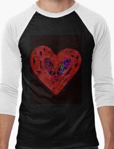 Heart Full Of Peace Men's Baseball ¾ T-Shirt