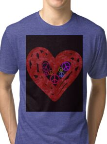 Heart Full Of Peace Tri-blend T-Shirt