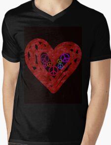 Heart Full Of Peace Mens V-Neck T-Shirt
