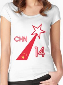 CHINA STAR  Women's Fitted Scoop T-Shirt