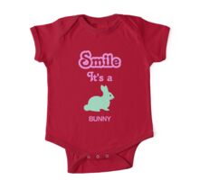 Smile it's a BUNNY Children's Clothing One Piece - Short Sleeve